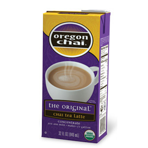 Oregon Chai Original Chai Tea Latte Concentrate (32oz) - CustomPaperCup.com Branded Restaurant Supplies