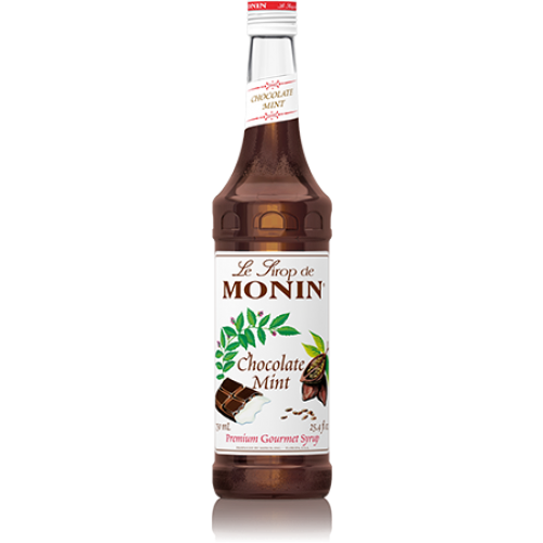 Monin Chocolate Mint Syrup (750mL) - CustomPaperCup.com Branded Restaurant Supplies