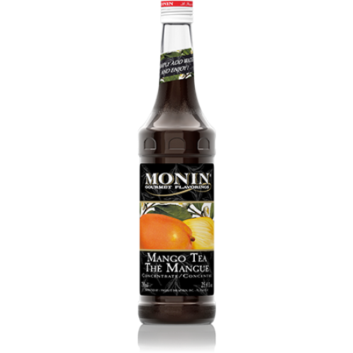 Monin Mango Tea Concentrate Syrup (750mL) - CustomPaperCup.com Branded Restaurant Supplies