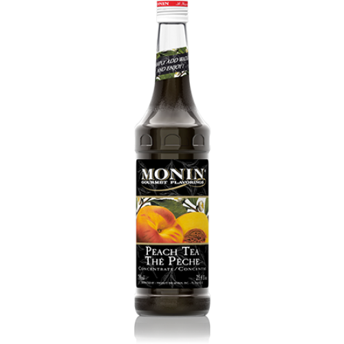 Monin Peach Tea Concentrate Syrup (750mL) - CustomPaperCup.com Branded Restaurant Supplies