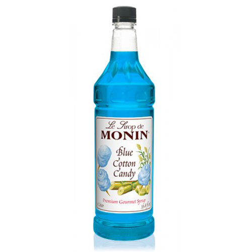 Monin Blue Cotton Candy Syrup (1L) - CustomPaperCup.com Branded Restaurant Supplies