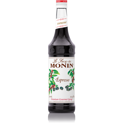 Monin Espresso Syrup (750mL) - CustomPaperCup.com Branded Restaurant Supplies