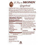 Monin Gingerbread Syrup (750mL) - CustomPaperCup.com Branded Restaurant Supplies