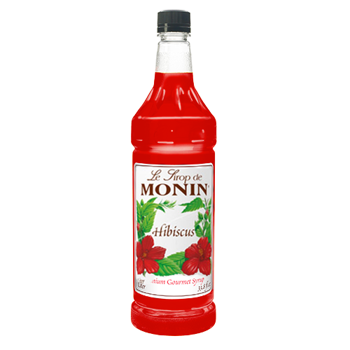 Monin Hibiscus Syrup (1L) - CustomPaperCup.com Branded Restaurant Supplies