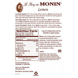 Monin Lemon Syrup (750mL) - CustomPaperCup.com Branded Restaurant Supplies