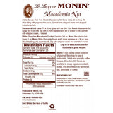 Monin Macadamia Nut Syrup (750mL) - CustomPaperCup.com Branded Restaurant Supplies