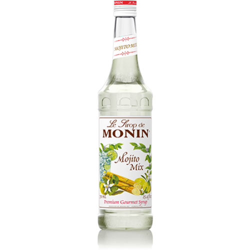 Monin Mojito Mix Syrup (750mL) - CustomPaperCup.com Branded Restaurant Supplies
