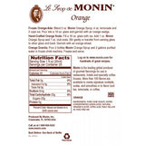 Monin Orange Syrup (750mL) - CustomPaperCup.com Branded Restaurant Supplies