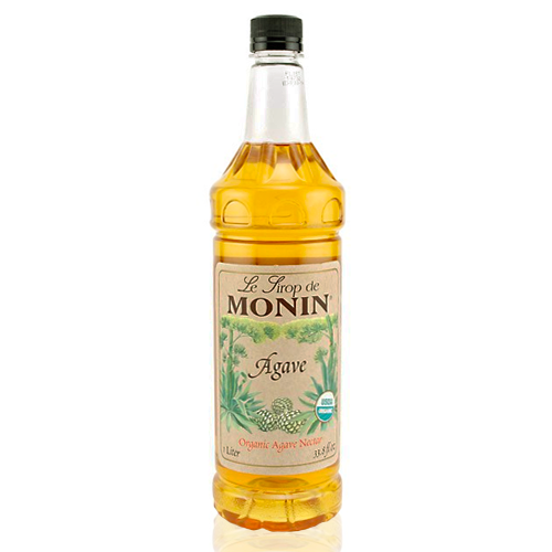 Monin Agave Organic Nectar Sweetener Syrup (1L) - CustomPaperCup.com Branded Restaurant Supplies