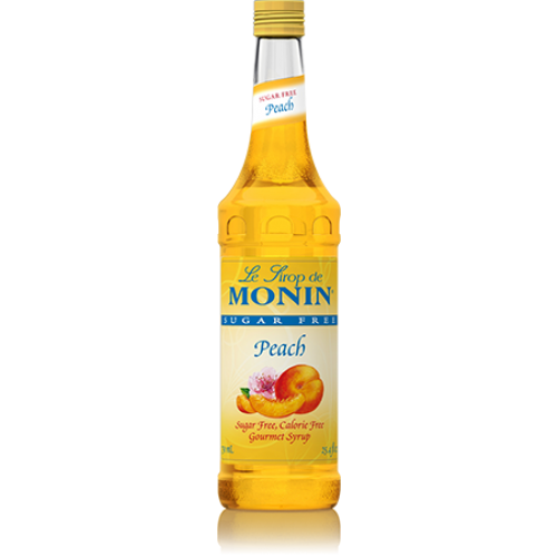 Monin Sugar Free Peach Syrup (750mL) - CustomPaperCup.com Branded Restaurant Supplies