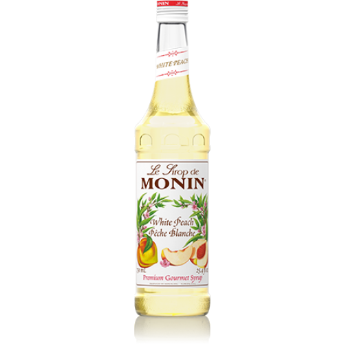 Monin White Peach Syrup (750mL) - CustomPaperCup.com Branded Restaurant Supplies