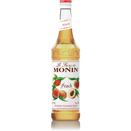 Monin Peach Syrup (750mL) - CustomPaperCup.com Branded Restaurant Supplies