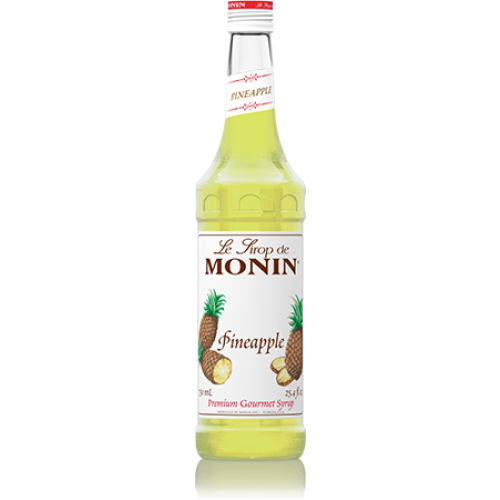 Monin Pineapple Syrup (750mL) - CustomPaperCup.com Branded Restaurant Supplies