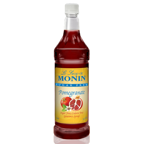 Monin Sugar Free Pomegranate Syrup (1L) - CustomPaperCup.com Branded Restaurant Supplies