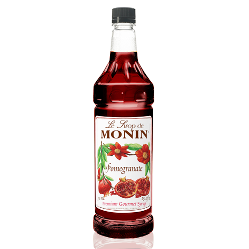 Monin Pomegranate Syrup (1L) - CustomPaperCup.com Branded Restaurant Supplies