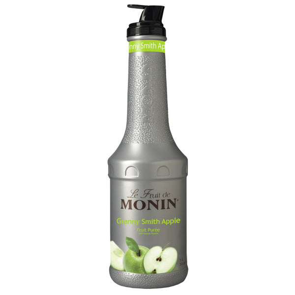 Monin Granny Smith Apple Fruit Purée (1L) - CustomPaperCup.com Branded Restaurant Supplies