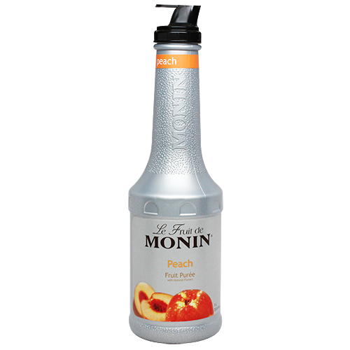 Monin Peach Fruit Purée (1L) - CustomPaperCup.com Branded Restaurant Supplies