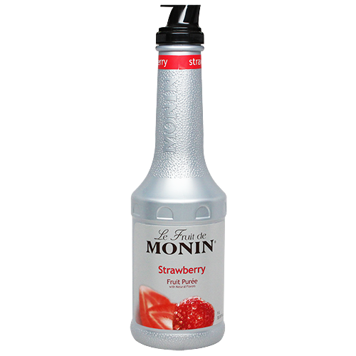 Monin Strawberry Fruit Purée (1L) - CustomPaperCup.com Branded Restaurant Supplies