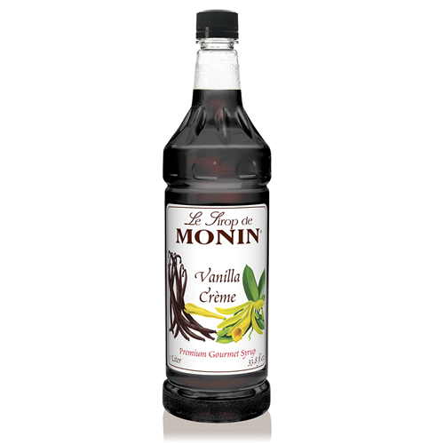 Monin Vanilla Creme Syrup (1L) - CustomPaperCup.com Branded Restaurant Supplies