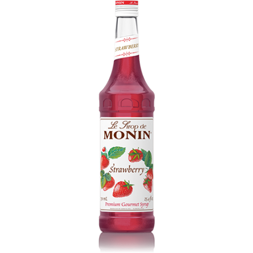 Monin Strawberry Syrup (750mL) - CustomPaperCup.com Branded Restaurant Supplies
