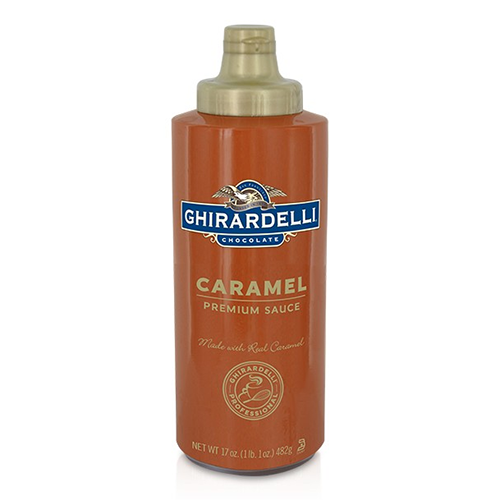 Ghirardelli Caramel Flavored Sauce Squeeze Bottle (16oz) - CustomPaperCup.com Branded Restaurant Supplies
