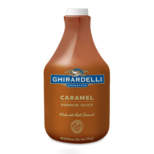 Ghirardelli Caramel Flavored Sauce (64 fl oz) - CustomPaperCup.com Branded Restaurant Supplies