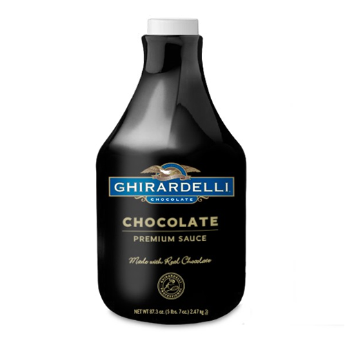Ghirardelli Black Label Chocolate Sauce (64 fl oz) - CustomPaperCup.com Branded Restaurant Supplies