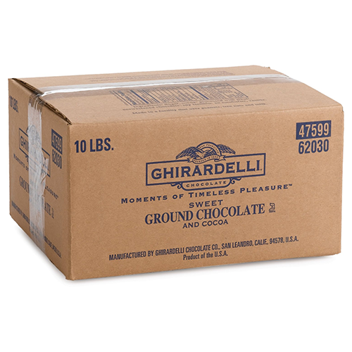 Ghirardelli Sweet Ground Chocolate and Cocoa Powder (10 lbs) - CustomPaperCup.com Branded Restaurant Supplies
