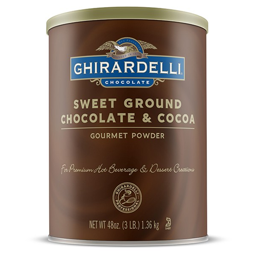 Ghirardelli Sweet Ground Chocolate & Cocoa Powder (3 lbs) - CustomPaperCup.com Branded Restaurant Supplies