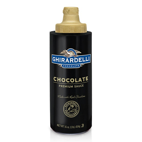 Ghirardelli Chocolate Flavored Sauce Squeeze Bottle (16oz) - CustomPaperCup.com Branded Restaurant Supplies