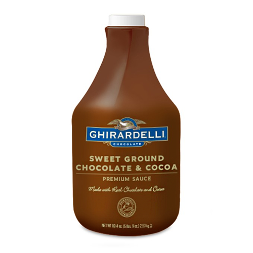 Ghirardelli Sweet Ground Chocolate & Cocoa Sauce (64 fl oz) - CustomPaperCup.com Branded Restaurant Supplies