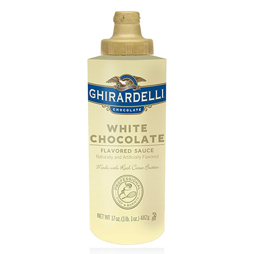 Ghirardelli White Chocolate Flavored Sauce Squeeze Bottle (16oz) - CustomPaperCup.com Branded Restaurant Supplies