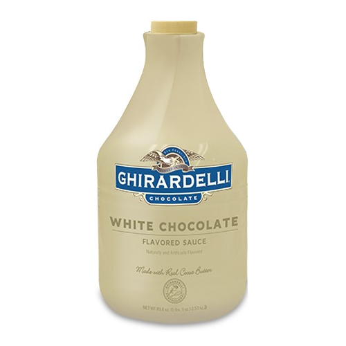 Ghirardelli White Chocolate Flavored Sauce (64 fl oz) - CustomPaperCup.com Branded Restaurant Supplies