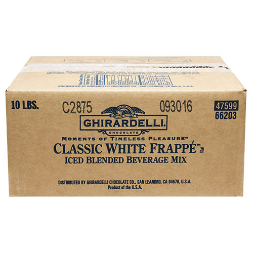 Ghirardelli Classic White Frappé (10 lbs) - CustomPaperCup.com Branded Restaurant Supplies