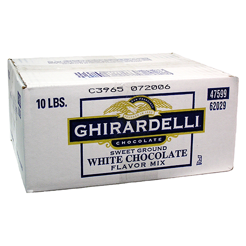 Ghirardelli Sweet Ground White Chocolate Flavored Powder (10 lbs) - CustomPaperCup.com Branded Restaurant Supplies