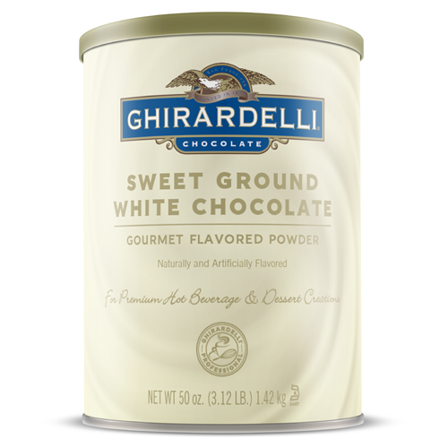 Ghirardelli Sweet Ground White Chocolate Flavored Powder (3.12 lbs) - CustomPaperCup.com Branded Restaurant Supplies