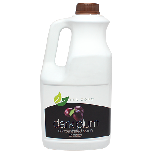 Tea Zone Dark Plum Syrup (64oz) - CustomPaperCup.com Branded Restaurant Supplies