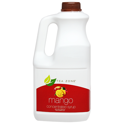 Tea Zone Mango Syrup (64oz) - CustomPaperCup.com Branded Restaurant Supplies