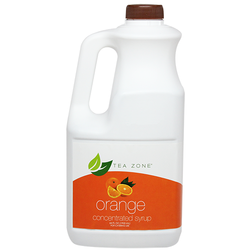 Tea Zone Orange Syrup (64oz) - CustomPaperCup.com Branded Restaurant Supplies