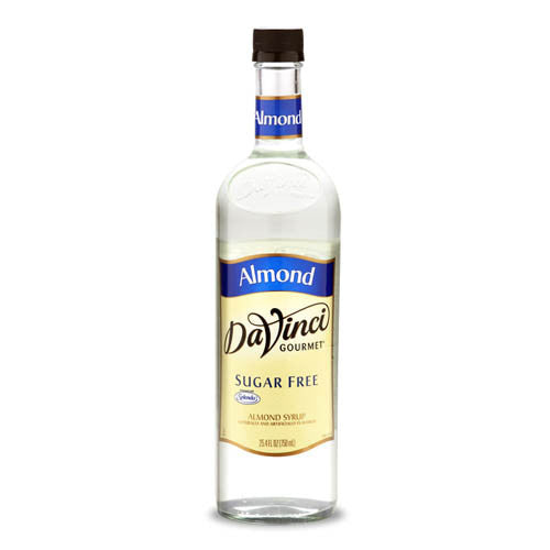 DaVinci Sugar Free Almond Syrup (750mL) - CustomPaperCup.com Branded Restaurant Supplies