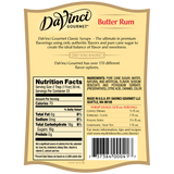 DaVinci Classic Butter Rum Syrup (750mL) - CustomPaperCup.com Branded Restaurant Supplies