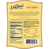 DaVinci Cake Batter Syrup (750mL) - CustomPaperCup.com Branded Restaurant Supplies