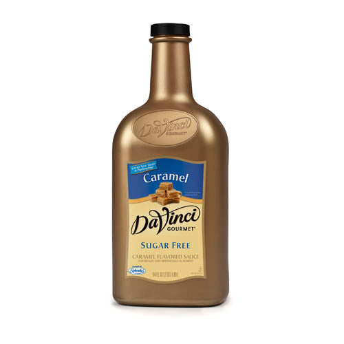 DaVinci Sugar Free Caramel Sauce (64oz) - CustomPaperCup.com Branded Restaurant Supplies