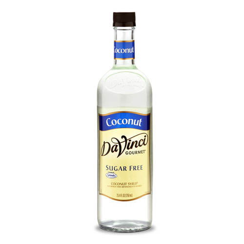 DaVinci Sugar Free Coconut Syrup (750mL) - CustomPaperCup.com Branded Restaurant Supplies