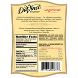 DaVinci Classic Gingerbread Syrup (750mL) - CustomPaperCup.com Branded Restaurant Supplies