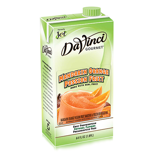 Da Vinci Mandarin Orange Passion Fruit Smoothie Mix (64oz) - Formerly Jet - CustomPaperCup.com Branded Restaurant Supplies