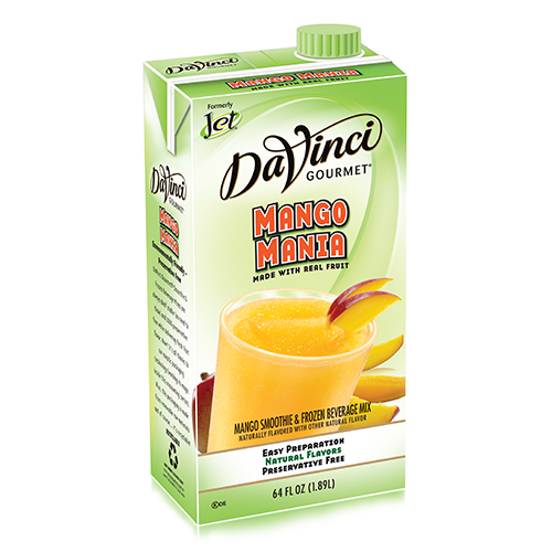 DaVinci Mango Mania Fruit Smoothie Mix (64oz) - Formerly Jet - CustomPaperCup.com Branded Restaurant Supplies