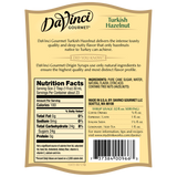 DaVinci Natural Single Origin Turkish Hazelnut Syrup (700mL) - CustomPaperCup.com Branded Restaurant Supplies