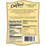 DaVinci Natural Single Origin Hawaiian Salted Caramel Syrup (700mL) - CustomPaperCup.com Branded Restaurant Supplies