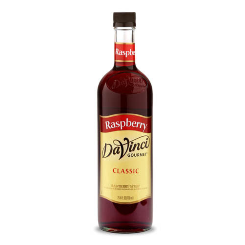 DaVinci Classic Raspberry Syrup (750mL) - CustomPaperCup.com Branded Restaurant Supplies